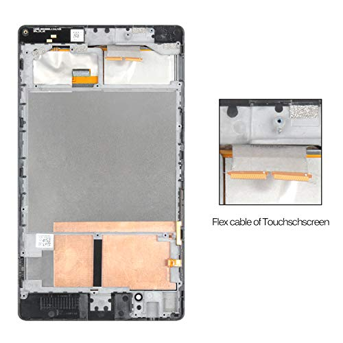 SRJTEK for Asus Google Nexus 7 2nd Gen 2013 ME571 ME571K ME571KL K008 K009 LCD Display Touch Screen Digitizer Replacement Kits with Frame Assembly(WiFi )