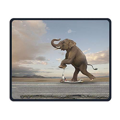 Yanteng Scooter de Montar en Elefante en una Oficina remota, Juego Necesario, Buen compañero Ratón, Mouse Pad