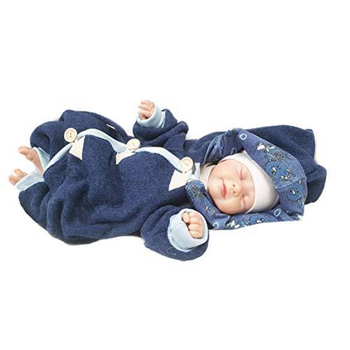 Atelier MiaMia - Walkoverall Baby Kind von 50-104 Designer Baby Overall Limitiert !! Blau (98) - 2