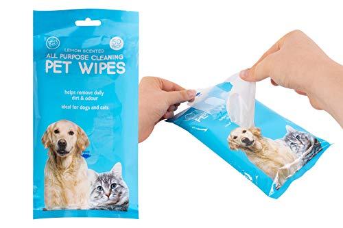Ozmoint OZMO INT World of Pets - Toallitas de limpieza para mascotas, 50 x 6 paquetes de 300 unidades