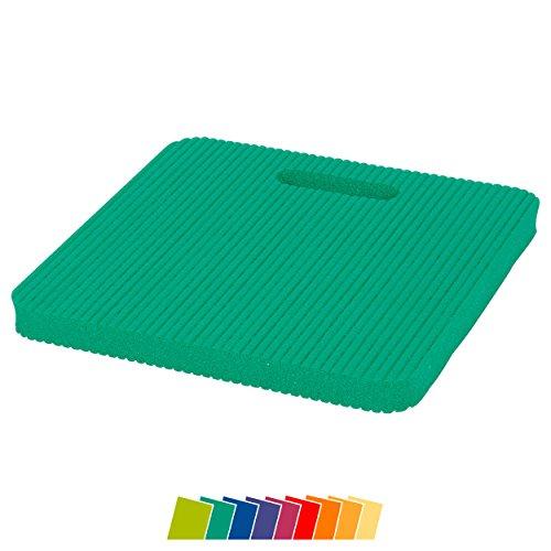 Sitzkissen KLEIN 24 x 24 x 1,5 Gymnastik Kissen Kniematte Farbe: grün