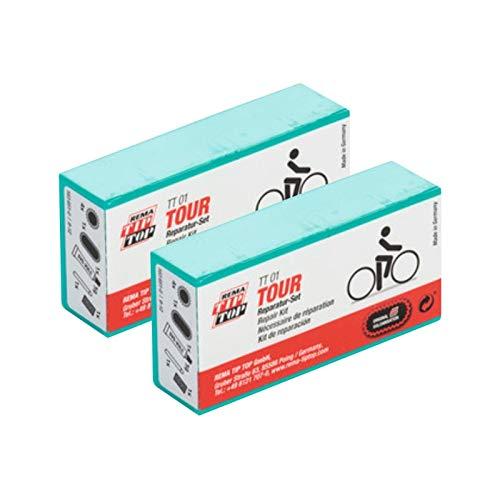 W01230103 Rema TIP-TOP TT01/05 - 7 o. 9-teilig - Fahrrad Flickzeug Reparaturset (2 x TT01)