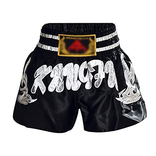 Keliour Ares Box-Shorts für Herren und Damen, Muay Thai, MMA, Sanda-Shorts, Kampftraining, Kleidung, Trainingsausrüstung (Farbe: Silber, Größe: 3XL)