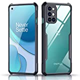 Xundd Case for Oneplus 8T 5G 2020 with Integrated Camera Cover, [Military Grade Drop Tested] Slim Clear Back with Shockproof Soft TPU Bumper Frame Cover - Black