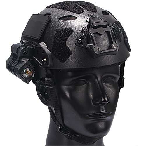 Set de Protección Airsoft, Casco Fast con Auriculares y Gafas Tácticas y Pantalla Facial y Modelo de Visión Nocturna, para Juegos de Tiro Al Aire Libre con Paintball,Sets a