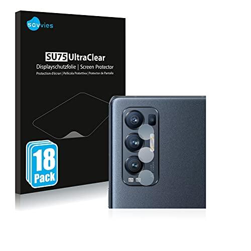 Savvies 18x Schutzfolie kompatibel mit Oppo Find X3 Neo (NUR Kamera) Bildschirmschutz-Folie Ultra-transparent