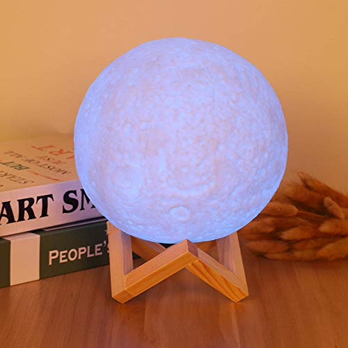 Nachtlampje voor volwassenen, warmwit, koudwit, nachtkastlampje, maanlicht, hoge precisie, draaibaar, nachtlampje Beba