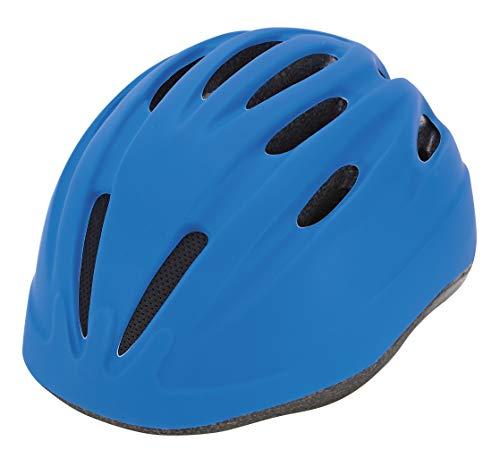 Prophete Unisex Jugend Kinder-Fahrradhelm, Glue-On Technologie, Einstellbarer Kopfring 52-56 cm, TÜV/GS geprüft, Farbe blau, Einheitsgröße