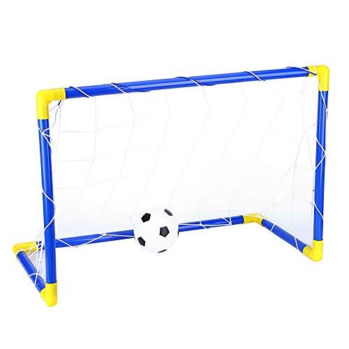 GOTOTOP Fußballtorpfosten, faltbares tragbares Pop-up-Fußballtor-Netz 2 in 1 Mini-Fußball-Zielnetz für Kinder im Innen- und Außenbereich