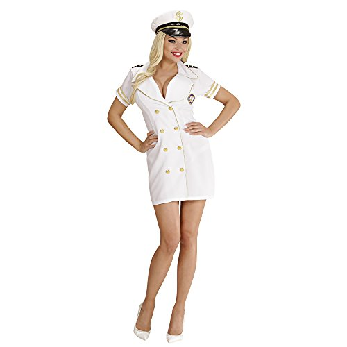 Widmann 77483 - Kostüm Kapitän Dame, weiß