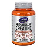 NOW Sports Nutrition, Kre-Alkalyn Creatine 750 mg, Mass Building*/Energy Production*, 120 Capsules