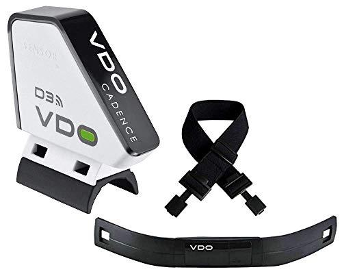 BELTRAMI VDO-Bundle, Fascia Cardio + sensore Cadenza Unisex Adulto, Nero/Bianco, Nessuna
