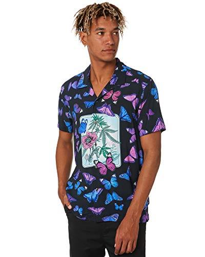 HUF Camisa tejida Papillon para hombre - negro - Medium