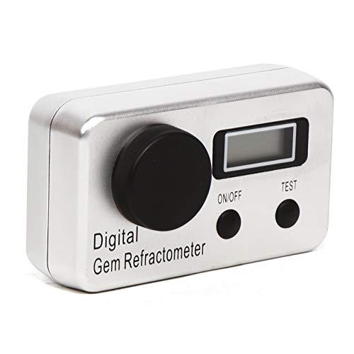 Digital Gem Refractometer 1.4-2.0 RI Gemstone Diamond Tool LCD Display Refractive Index of The Gemology Professional Gemological Diamond Tool