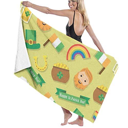 Gebrb Duschtücher/Badetücher,Strandtücher, Microfiber Travel & Beach Towel,Camping Towel, Gym Towel, Sports Towel, Swimming Towel - Happy St. Patrick's Day Print 31x51 Inches