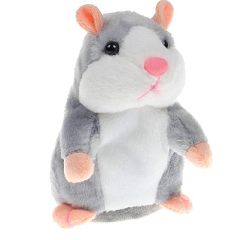 Talking Hamster Repeats What You Say, Plush Interactive Toys Educational Talking Toy Repeating Hamster Toy Electronic Pet Mouse Buddy Toys for Kids Boys and Girls