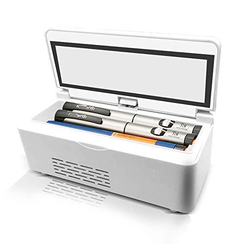 Unbekannt Mini Kühlschrank Tragbare Medizin Kühlschrank Diabetiker Insulin Box Für Auto Insulin Box & Kühlinsulin Kühlschrank und Insulin Kühler (21X10X9,5 cm (8,27X3,94X3,74 Zoll)