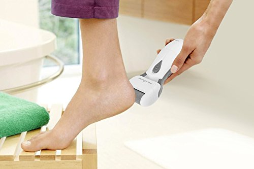 HealthSense CR 360 Velvet-Touch Electronic Pedicure Foot File