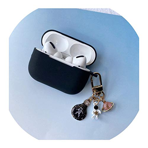 for AirpodsPro Case Cute Bear Keychain Silicone Bluetooth Wireless Earphone Case for Apple AirPods3 Cover