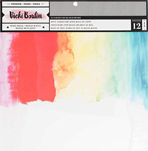 American Crafts Smooth White, 140lb Vicki Boutin Mixed Media Foundations Paper