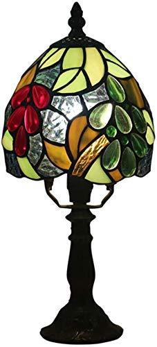 WTTWW Tiffany UVA De Mesa Lámpara De 6 Pulgadas Europea De Colores Clásicos Turística Sombra Luz De Lectura Lámparas Stained Glass Sala Oficina De Escritorio Iluminación De Interior