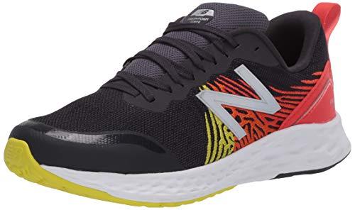 New Balance Kid's Fresh Foam Tempo V1 Lace-Up Running Shoe, Phantom/Neo Flame, 2 M US Little Kid