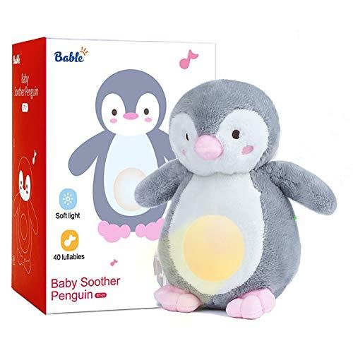 Bable Baby Geschenk, Baby Spielzeug Schlafhilfe Nachtlicht Beruhigende Sound-Maschine & Babyparty-Geschenk, Kuscheltier, Geschenke zur Geburt, Einschlafhilfe Babys (Rosa)