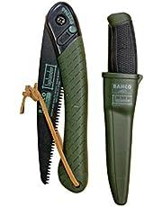 Bahco Lap BHLAP-KNIFE inklapbare takkenzaag met mes, jachtgroen
