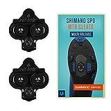 Alphatrail Shimano SPD MTB Cleats Carter I Multi Release I Adecuado para Spinning I Incl. el Kit de Montaje I Compatible con los Pedales de Clic i.a. Shimano XTR, Shimano XT, Saint, SLX & Deore