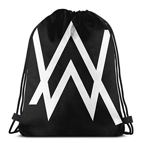 JIALIA Alann Walkerr - White Logo Merchandise Sport Bag Gym Sack Drawstring Backpack