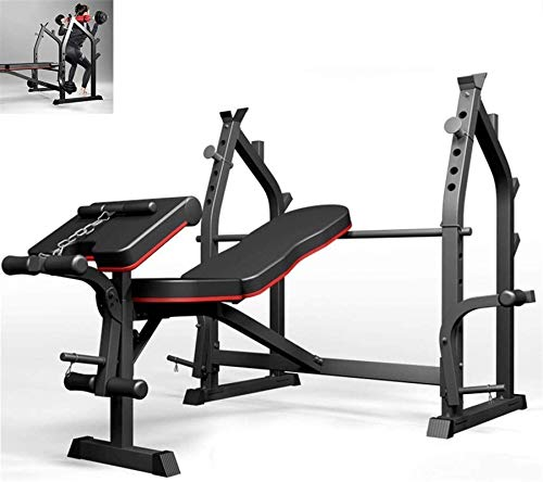 YLJYJ Upright Exercise Bikes Squat Rack Bench Press Rack Home Fitness Equ Barbell Rack Men's Bench Press Bench Multi-Function Weight Bench Fitness Chair Spin bikection Home Spinning bikebic