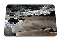 26cmx21cm マウスパッド (砂海空曇り) パターンカスタムの マウスパッド