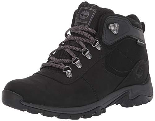 Timberland Women's Mt. Maddsen Mid Leather Waterproof Hiker Hiking Boot, Black Nubuck, 090M M US