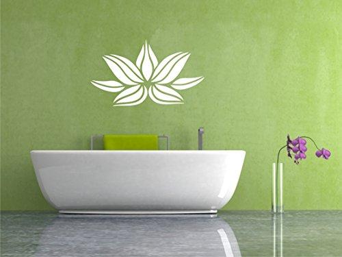 Sticker mural Fleur de Lotus Fleur de Lotus Sticker Mural Autocollants Lotus Mandala 60 x 100 cm dans 33 couleurs mat ou brillant - Gris clair mat
