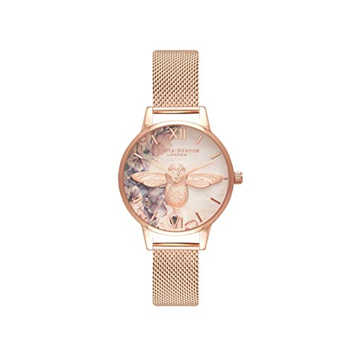 Olivia Burton Damen Analog Quarz Uhr mit Kunststoff Armband OB16PP40