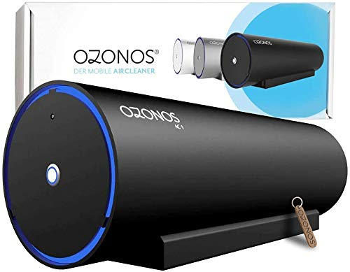 Ozonos AC1 Pro - Ozon Luftreiniger - Wirksam Bakterien, Viren und Gerüche TÜV Zertifiziert - Luftreiniger Wohnung - wirksam durch Ozon Reiniger Technologie - Luftreiniger Allergie Ozongerät/schwarz