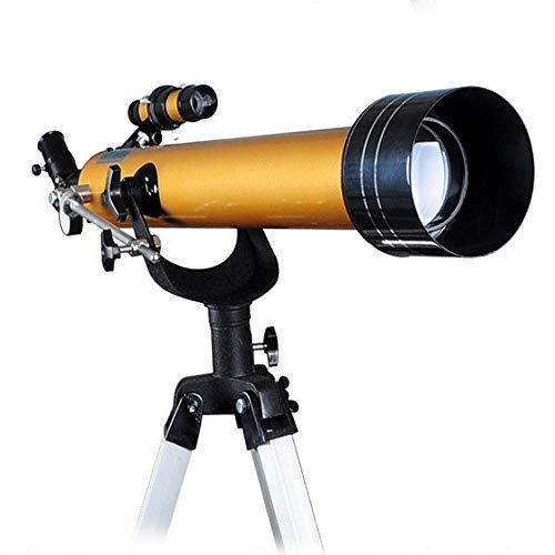 WNN-URG Telescopio for niños y Principiantes Astronomía, Viajes 60mm Alcance de la Luna Observación Mirando Las Estrellas y Aventuras al Aire Libre URG