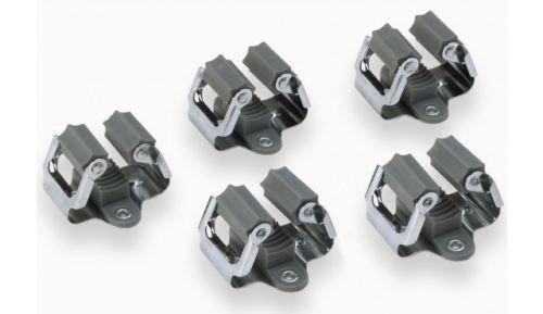 ONVAYA Gerätehalter Klemmfix | Wandhalter aus Federstahl 5er Set | Gerätehalterleiste | Werkzeughalter | Besenhalter | inkl. Arbeitshandschuhe