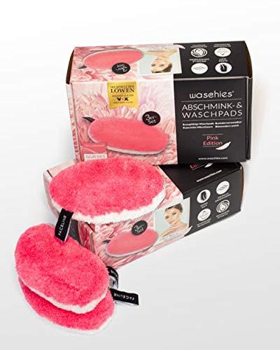 waschies Abschminkpads waschbar, Wiederverwendbare Abschminktücher und Kosmetikpads zur Make-Up Entfernung, Umweltfreundlich und Nachhaltig [Mikrofaser, 3er Set]