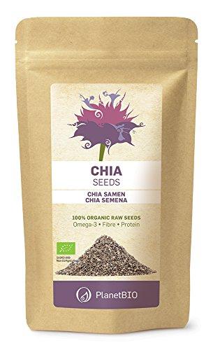 Planet Bio Chia Bio Semillas - 4 Paquetes de 200 gr - Total: 800 gr