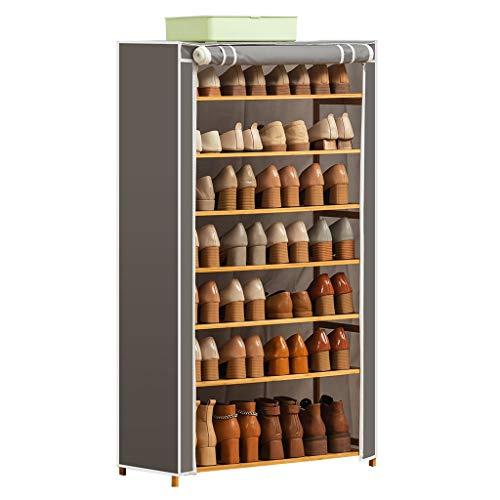 Almacenamiento de zapatos Estante for zapatos de 7 niveles con cubierta a prueba de polvo Armario Armario for guardar zapatos Organizador de entrada Entrada Organizador de zapatos Dormitorio Corredor