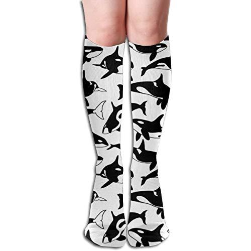 Generic Orca Damen Tube Kniestrümpfe Cosplay Socken 50cm