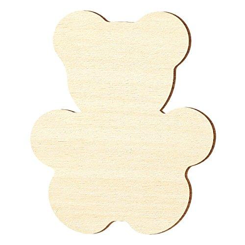 Legno compensato – orsacchiotto – dimensioni a scelta – pioppo 3 mm, dimensioni: altezza 5 cm