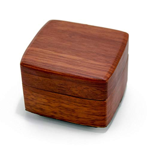 Beautiful Wood Tone Chic 18 Note Petite Music Jewelry Box - I Saw Mommy Kissing Santa Claus