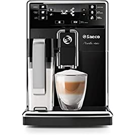 Saeco picobaristo super automatic espresso machine, countertop, piano black, hd8927/37 1 the largest variety from a compact machine: brews 11 coffee varieties enjoy up to 5, 000 cups of coffee without descaling delicious hot cappuccino and latte macchiato at one touch
