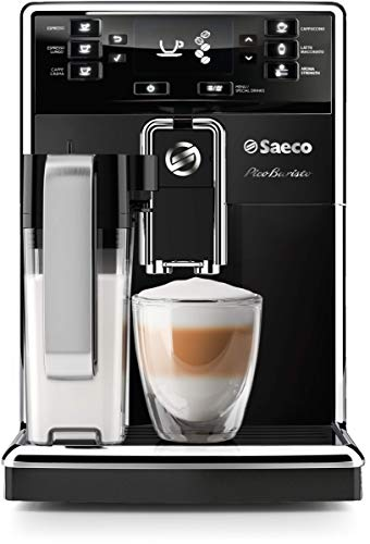 Saeco PicoBaristo Super Automatic Espresso Machine, Countertop, Piano Black, HD8927/37