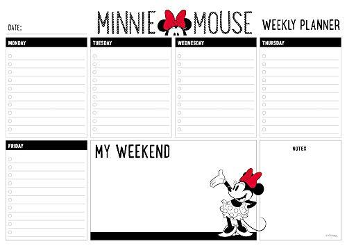 Erik® - Planning da Tavolo Minnie Mouse Disney, con planner settimanale e 54 fogli a strappo, perfetto come agenda appuntamenti