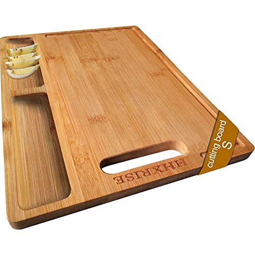 HHXRISE Organic Bamboo Cutting Board For Kitchen,...