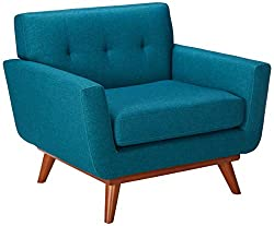 Turquoise mid-century modern chair