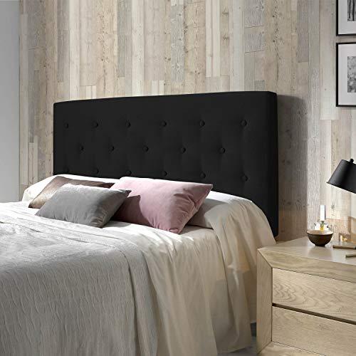 marcKonfort Tête de lit Oslo 160X100 cm, capitonnée Tissu Anthracite, Épaisseur Totale de 8 cm